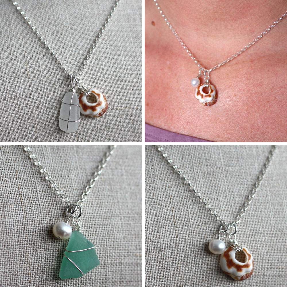 Tutorials shine on then you can layer the pendants or wear them alone shown before i added the jump rings solutioingenieria Images